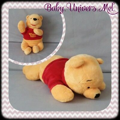 Peluche Doudou Disney Winnie Allongé TBE 48cm