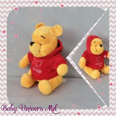 Peluche Doudou Disney Winnie sweet rouge Lovable TBE 19cm