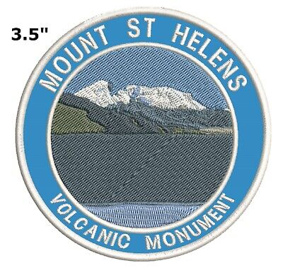 Mount St. Helens Embroidered Patch Iron-On Souvenir Travel Explore Nature
