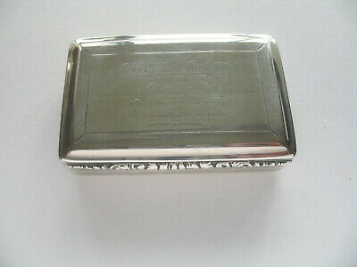 William IV Antique Sterling Snuff Box by Nathaniel Mills c1830