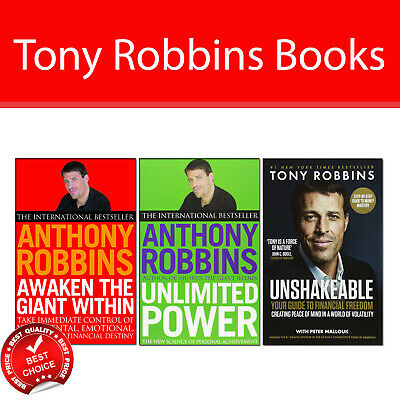 Tony Robbins 3 Books Collection Pack set Awaken The Giant Within,Unlimited Power