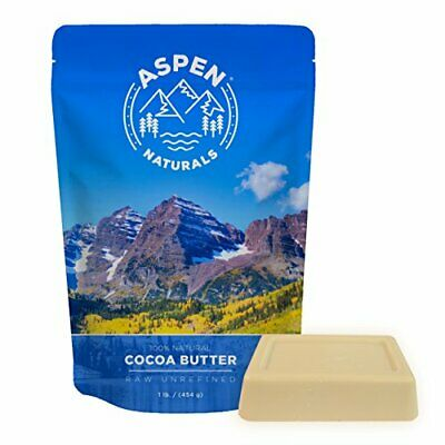 Cocoa Butter Pure Raw Unrefined - 1 LB Highest Quality Bar-Premium Cacao