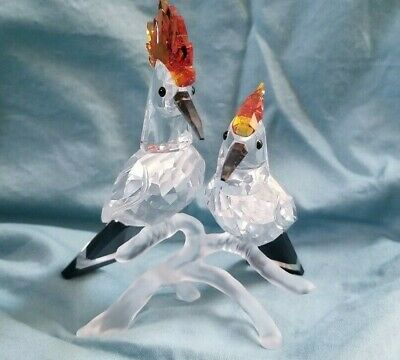 "Swarovski Hoopoes, Tropic Bird Crystal Figurine Authentic #925080 4"" x 3.5"""
