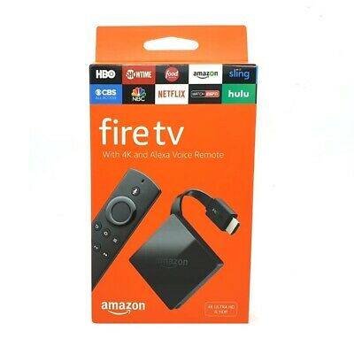 Genuine Amazon Fire TV 4K Ultra HD With Alexa Voice Remote (3 Generation) Black