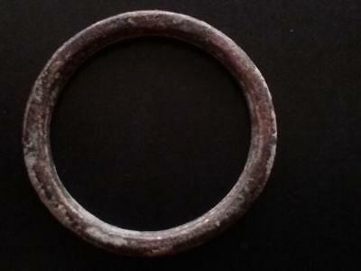24mm Authentic Ancient CELTIC Bronze Ring Money Sandy Patina ~600 BC #19