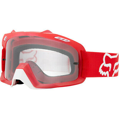 7afbace0a397 Fox Racing NEW Mx Air Space Red Clear Lens Adult Motocross Dirt Bike MTB  Goggles