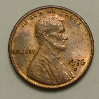 1976 Lincoln Memorial Penny, Denver Mint, Circulated