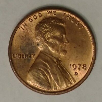 1978 Lincoln Memorial Penny, Denver Mint, Circulated