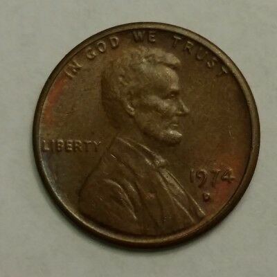 1974 Lincoln Memorial Penny, Denver Mint, Circulated
