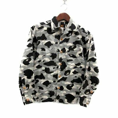 eddd7b4201ae A BATHING APE COLOR CAMO COTTON JACKET GRAY (XS) Bape Authentic Rare