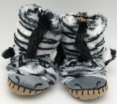 9a711ff68e6 LITTLE BLUE HOUSE by Hatley Owl Kids Fuzzy Slouch Slippers Size 1-2 ...