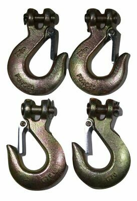 """QTY 4 Clevis Slip Hook 5/16"""" with Latch - Grade 70"""