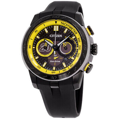 Citizen Eco-Drive Black Dial Silicone strap Men's Watch CA4159 03E