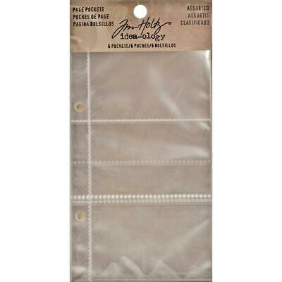 Tim Holtz Idea-Ology - Worn Binder Pages - Clear Pockets Assorted