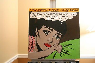 "Romance Comic Painting - 24 x 24"" x 1 3/8"" - acrylic original painting signed"