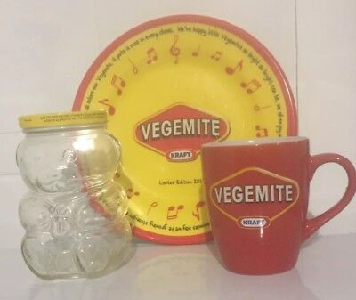 Vegemite Plate & Mug & Jar Rare Collectable