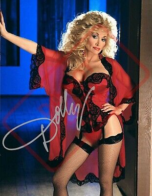 8.5x11 Autographed Signed Reprint RP Photo Dolly Parton Sexy