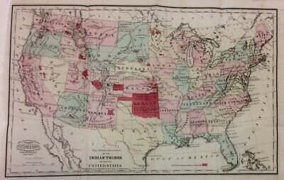 Map showing the location of the Indian Tribes within the U.S. J.H. Colton 1868