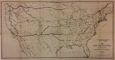 The Great Railroad Routes to the Pacific, and Their Connections Senate Map 1869