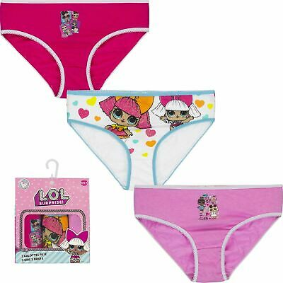 Lol Surprise Doll Girls Childrens Three Pack Underwear Set