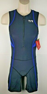 3fe3cbf998 NWT TYR Mens Competitor TriSuit Sz Medium Zip Front Triathalon Cycling Race  $116