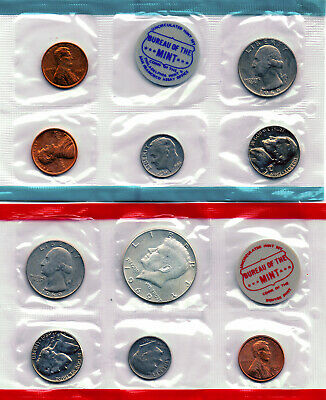 """1969 US MINT SET With Problems """"No Envelope or COA"""" 10-coin set"""