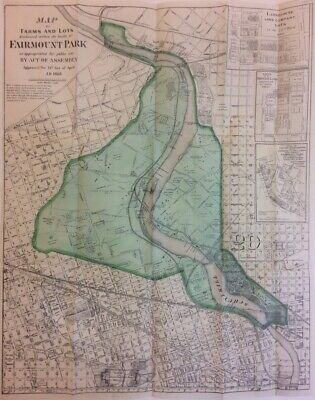 Maps of Farms and Lots Embraced within [...] Fairmount Park Philadelphia 1868