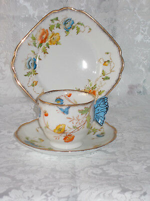 Royal Albert Butterfly Handle Trio
