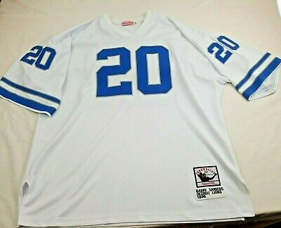 7c5fbe50a97 Detroit Lions 1996 Barry Sanders Throwback Jersey NFL   20 Mitchell Ness sz  60