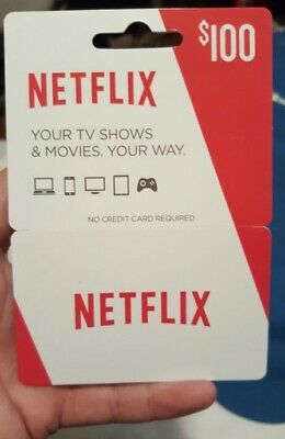 $100 Netflix Gift Cards| TV, Smartphone, Tablet, Computer  | USA ONLY Discounted
