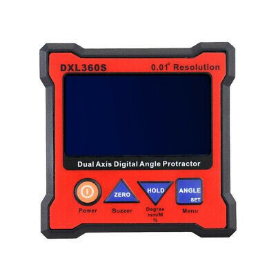 DXL360S Dual Axis Digital Angle Protractor Inclinometer LCD Display EU Plug X3Q7