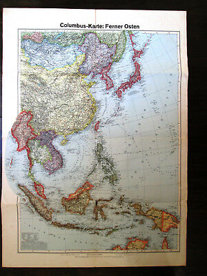 Folding map. SOUTH EAST ASIA. MALAYSIA. INDONESIA. SIAM & AUSTRALIA & OCEANIA