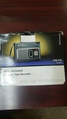 OPTIMUS~New~CTR-115 Vox Voice Activated Cassette Tape Recorder~Pop-up Microphone