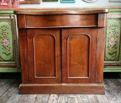 Antique Victorian Mahogany Chiffonier Sideboard cupboard cabinet vintage drawer
