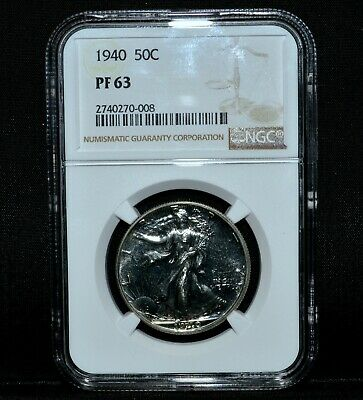1940-P Walking Liberty Half Dollar ✪ Ngc Pf-63 ✪ 50C Silver Proof Pr ◢Trusted◣