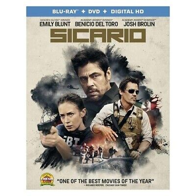 Lions Gate Home Ent Br47895 Sicario (Blu Ray/dvd W/digital Hd) (Ws/eng/eng Su...