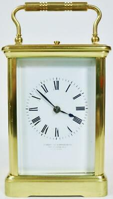 Antique French Parkinson & Frodsham Brass 8 Day Striking Repeater Carriage Clock