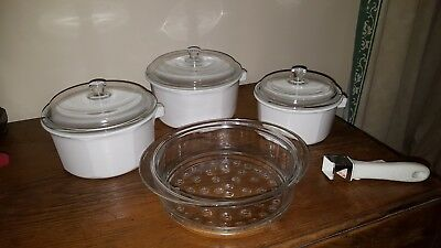 FIESTA / PRINCESS HOUSE NOUVEAU france opaque pans x 3 and glass steamer unused