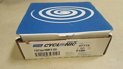 "50 Box - Norton 6"" A975 Dryice Multi-Air Cyclonic Norgrip Discs P180 Grit 07775"