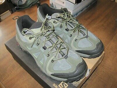647d3c15b11 SALOMON MEN'S EVASION Aero Hiking Shoe US 9 Forest/Turf Green - barely used!