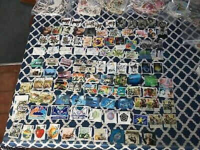 Stamp job lot lucky dip 100 different collection, british franked off paper