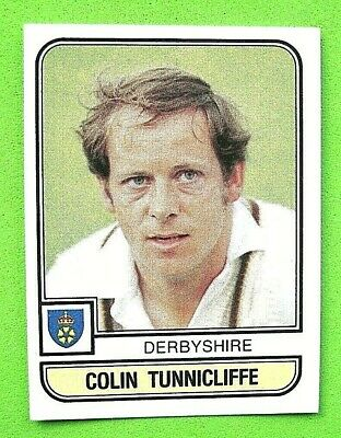 Panini.. Cricket 83...x 1 Sticker. ..# 17   Colin Tunnicliffe    Derbyshire ..vg
