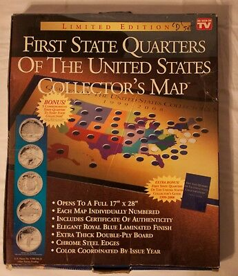 First State Quarters of The United States Collector's Map 1999-2008-D and P Mint