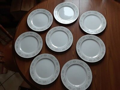 "(8) Carlton Japan Corsage 10 1/2"" Dinner Plates Pattern 481"