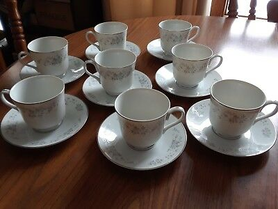 (8) Carlton Japan Corsage cups and saucers Pattern 481