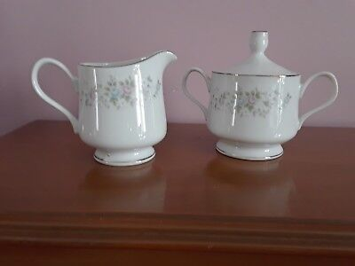Carlton Japan Corsage Creamer and Sugar Set Pattern 481