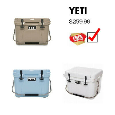 YETI ROADIE 20 Cooler Great Outdoors Camping Hiking Gear 14-Can 20 Lbs ice