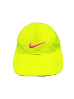 b6bc40a2090 Girls Youth Nike Baseball Cap Cotton Adjustable Florescent Yellow Pink 4-6X  Hat