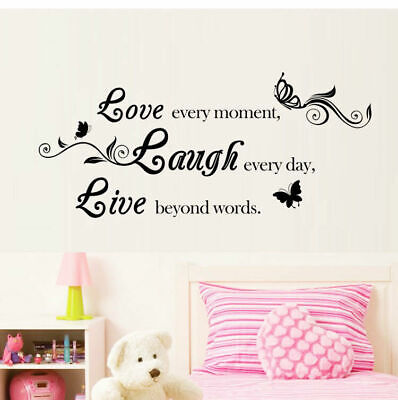 Wall Stickers Wallpaper Letters Butterfly Home Decor Living Sofa Room Wall