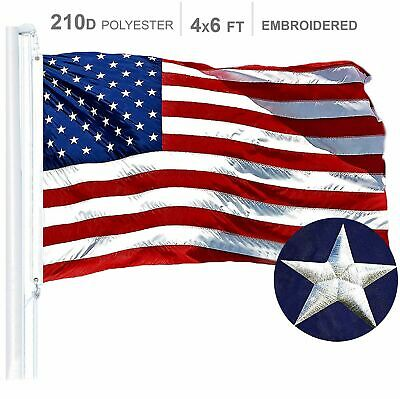 American Flag 210D Embroidered Polyester 4x6 Ft I ***G128***